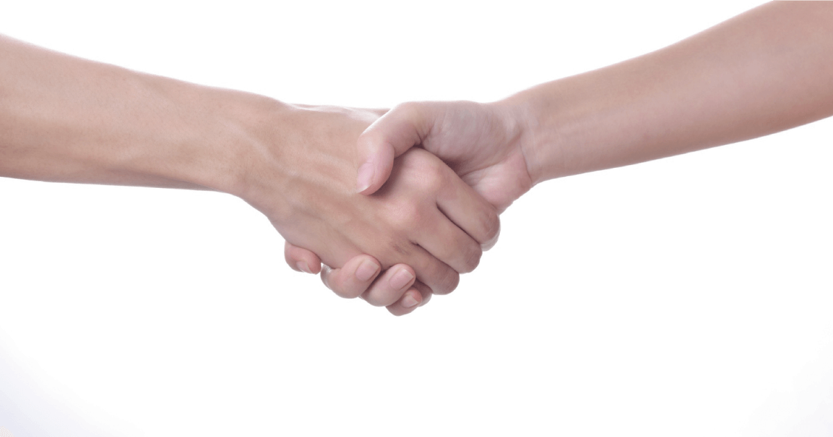 モンゴルの握手する文化